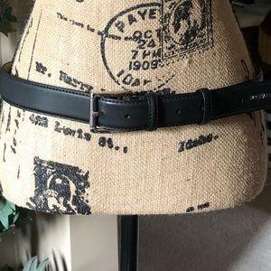 MICHAEL Michael Kors Black Leather Belt size Large
